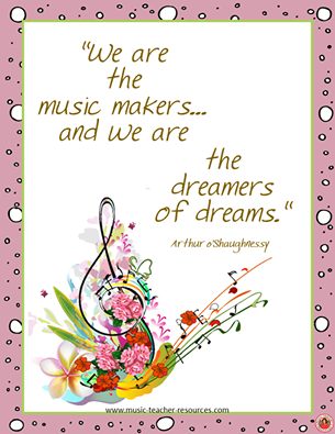 Makers of music dreamers of dreams