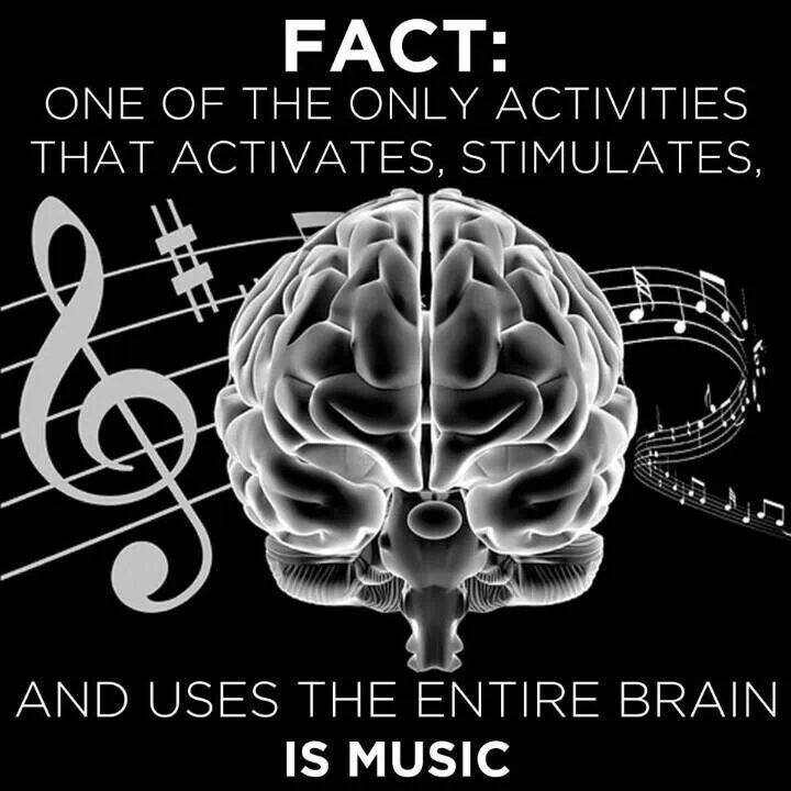 Music uses ENTIRE brain