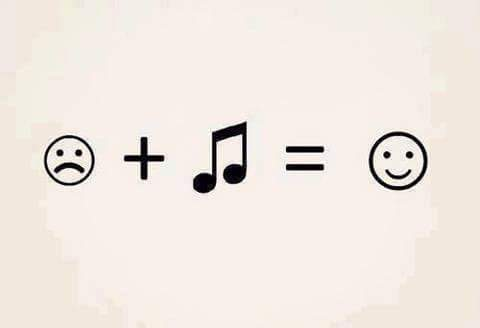 sad + music = happy